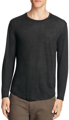 Vince Linen Long Sleeve Scallop Tee $135 thestylecure.com