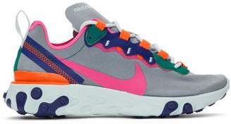 Nike Grey React Element 55 Sneakers