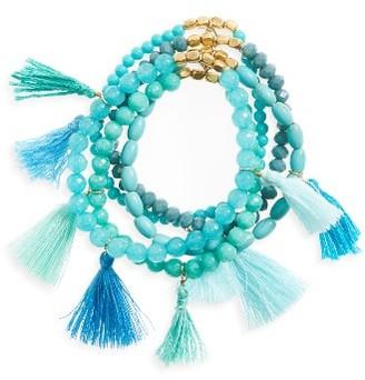 Women's Panacea Multistrand Tassel Bracelet $28 thestylecure.com