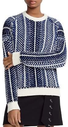Maje Manihi Geo-Pattern Sweater