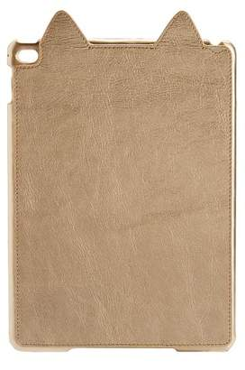 Pottery Barn Teen The Emily & Meritt Collection Tablet Case, Gold Leather