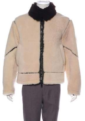 Burberry Shearling & Leather Jacket