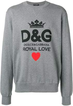 Dolce & Gabbana Royal Love printed sweatshirt
