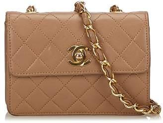 Chanel Vintage Matelasse Leather Chain Flap Shoulder Bag
