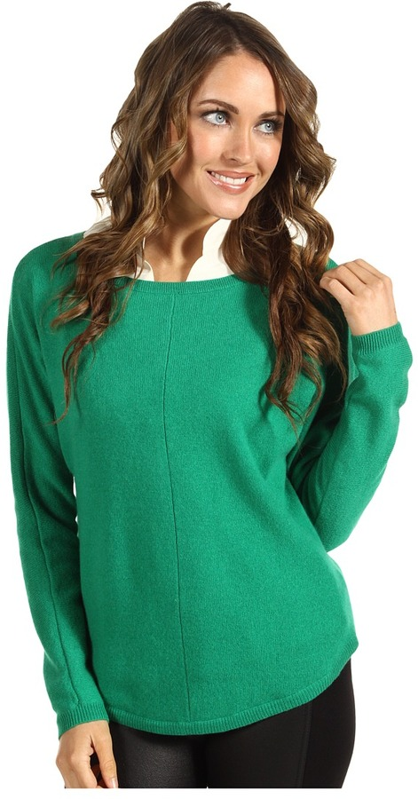 Joie Arnie Sweater Top (Deep Mint) - Apparel