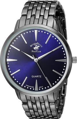 Beverly Hills Polo Club US Men's ' Quartz Metal and Alloy Automatic Watch, Color:Grey (Model: 53486)