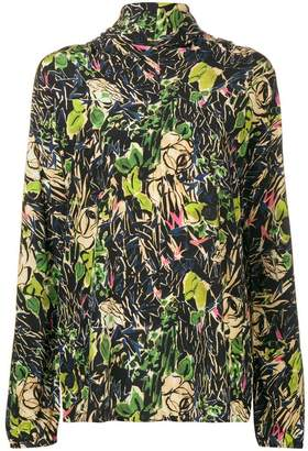 Prada tropical print blouse