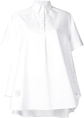 Thom Browne Oxford Oversized Circle Shirtdress