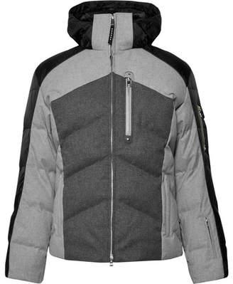 Bogner Evan Quilted Flannel Hooded Down Ski Jacket