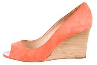 Tod's Suede Wedge Pumps Suede Wedge Pumps