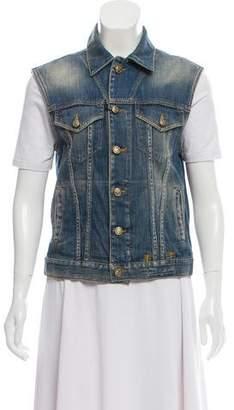 R 13 Denim Button-Up Vest w/ Tags