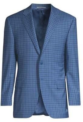 Canali Wool Plaid Jacket
