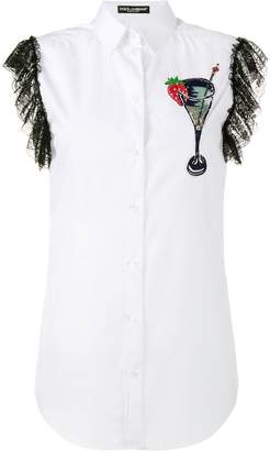 Dolce & Gabbana sleeveless embroidered shirt