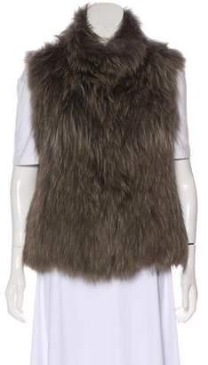 Yves Salomon Meteo x Fur Mock Collar Vest