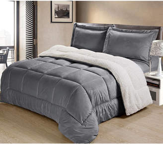 Cathay Home Inc. Ultimate Luxury Reversible Micromink and Sherpa King Bedding Comforter Set Bedding
