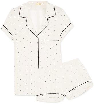 Eberjey Printed Stretch-jersey Pajama Set - White