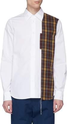 Marni Tartan plaid flannel panel shirt