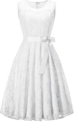 KT-SUPPLY Lace Dresses for Women Bridesmaid Cocktail Wedding Party Special Occasions M