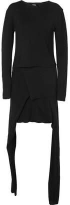 J.W.Anderson Asymmetric Wool Dress - Black