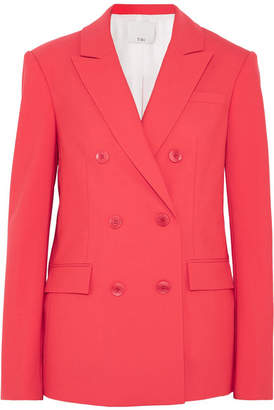 Tibi Steward Double-breasted Crepe Blazer - Red