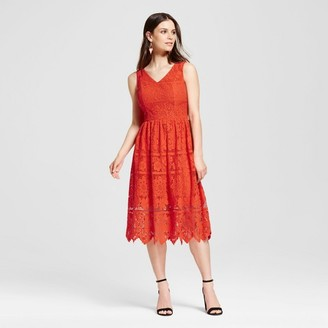 Mossimo Women's Floral Sleeveless Lace Dress Orange - Mossimo $34.99 thestylecure.com