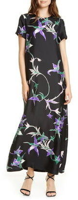 La DoubleJ Swing Print Silk Dress