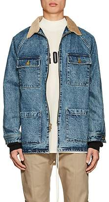 Fear Of God Men's Corduroy-Collar Denim Jacket - Md. Blue