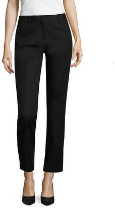 Liz Claiborne Classic Fit Double Cotton Emma Pant - Tall Inseam 30