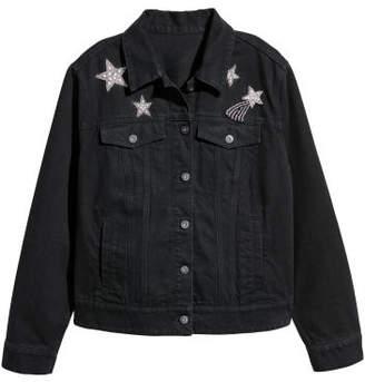 H&M H&M+ Denim Jacket - Black