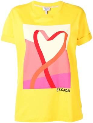 Escada Sport printed round neck T-shirt