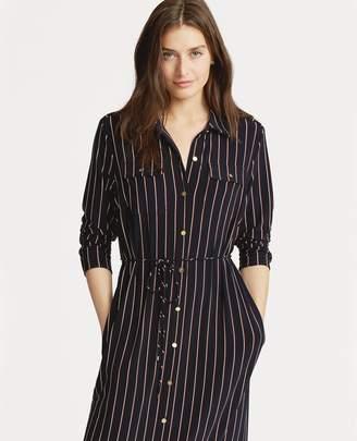 Ralph Lauren Striped Jersey Shirtdress