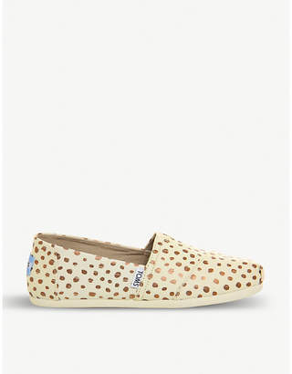 Officine Creative Spotted canvas espadrilles