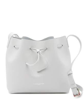 Lancaster Paris Matte Smooth Leather Bucket Bag