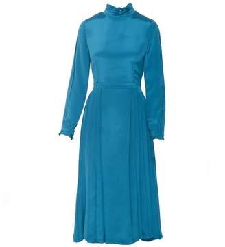 Shopyte - Egyptian Blue Silk Dress 2