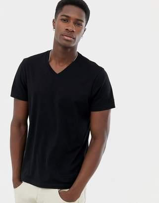 J.Crew Mercantile slim v-neck t-shirt in black