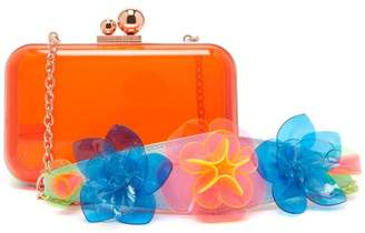 Sophia Webster Vivi Jumbo Lilico Plexi Clutch - Womens - Orange Multi