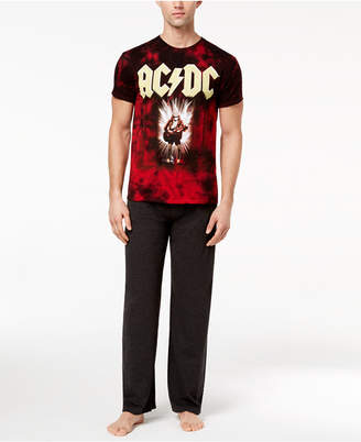 Bioworld Men's Ac/Dc Pajama Set