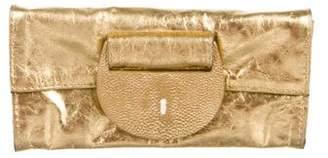 R & Y Augousti R&Y Augousti Leather and Stingray Clutch