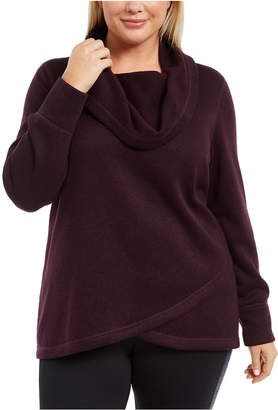 Ideology Plus Size Cowl-Neck Pullover