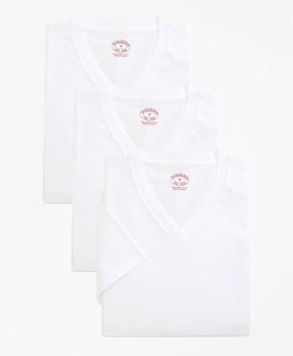 Brooks Brothers Cotton V-Neck Undershirt - Three Pack