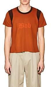 "Landlord Men's ""Bob"" Compact-Knit Short-Sleeve T-Shirt-Orange Size S"