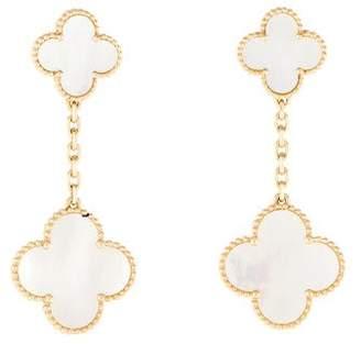 Van Cleef & Arpels Mother of Pearl Magic Alhambra 2 Motif Earrings