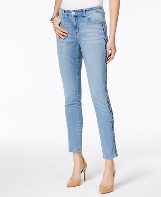 Style & Co Embroidered Slim-Leg Ankle Jeans, Only at Macy's $64.50 thestylecure.com