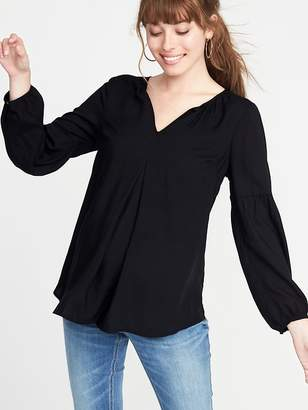 Old Navy Maternity Lightweight Split-Neck Blouse