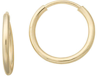 Lord & Taylor 14K Yellow Gold Hoop Earrings $70 thestylecure.com