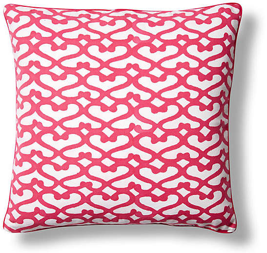 Big Cata Cotton Pillow Cover - Pink - Roller Rabbit - 18