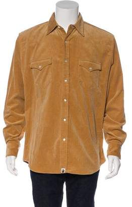 BAPE Corduroy Snap Front Shirt