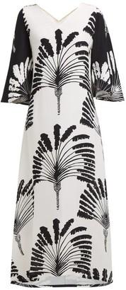 Rianna + Nina - Lilli Printed Silk Crepe Dress - Womens - White Black