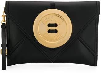 Moschino oversize button clutch bag