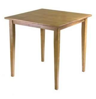 Winsome Wood Groveland Square Dining Table, Light Oak Finish